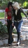 Kristen Stewart And Dakota Fanning On The Set Of 'The Runaways'